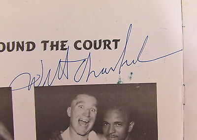 Wilt Chamberlain Autographed/Signed 1997 Program 126753