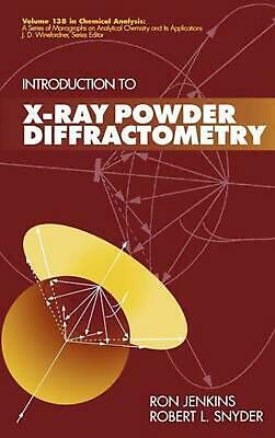 Introduction to X-Ray Powder Diffractometry by Ron Jenkins (English) Hardcover B