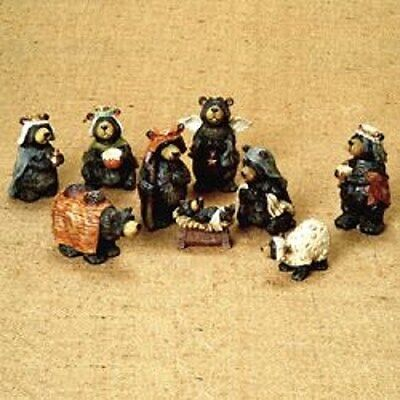 "KSA ""BLACK BEAR NATIVITY SET"" ~ 9 Piece Set ~ NEW ~ MIB ~ TOO CUTE!!!!!!"