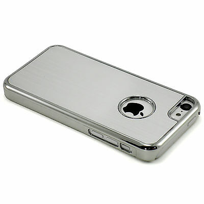 New Silver Aluminum Brushed Hard Case Cover + Screen Guard For iPhone 5C
