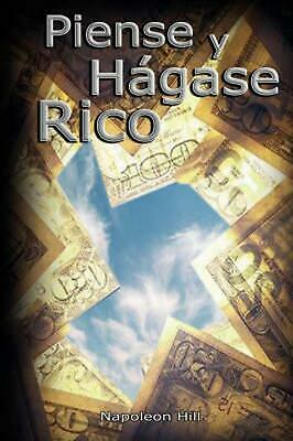 Piense y Hagase Rico by Napoleon Hill (English) Hardcover Book Free Shipping!