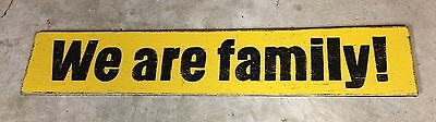 4ft WE ARE FAMILY! Pittsburgh PIRATES wood bar restaurant sign BASEBALL 70s BUCS