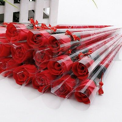 100x Transparent Cellophane Cone Candy Popcorn Bouquet Flower Gifts Bags Party
