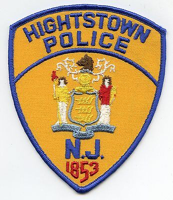 Hightstown New Jersey Nj Police Patch