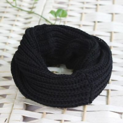 Women Lady Winter Warm Men Infinity Circle Cable Knit Cowl Neck Long Scarf Shawl