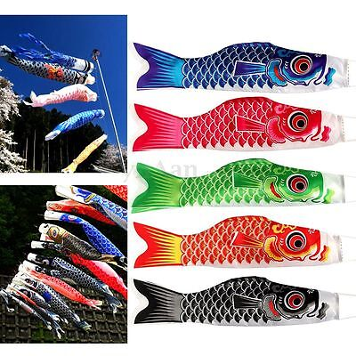 55cm Multicolor Japanese Windsocks Koinobori Carp Flag Fish Sailfish Home Decor