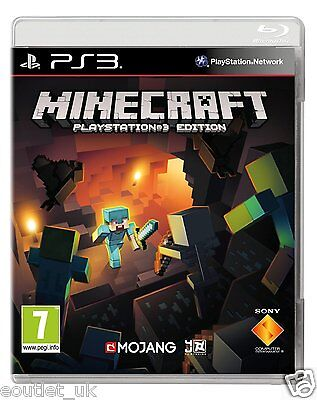 Minecraft PlayStation 3 Edition Game PS3 NEW SEALED IN STOCK