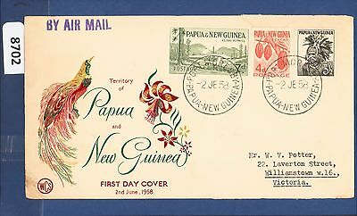 1959 Papua New Guinea FDC 5d Surcharge Port Moresby  (8702)