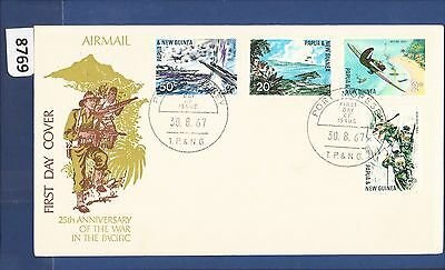 1967 Papua New Guinea FDC Pacific War (4) Port Moresby  (8769)