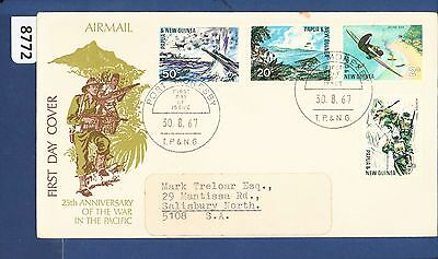 1967 Papua New Guinea FDC Pacific War (4) Port Moresby Addressed (8772)