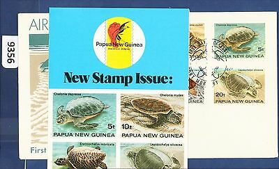 1984 Papua New Guinea FDC Turtles (6) Port Moresby with Brochure (9356)