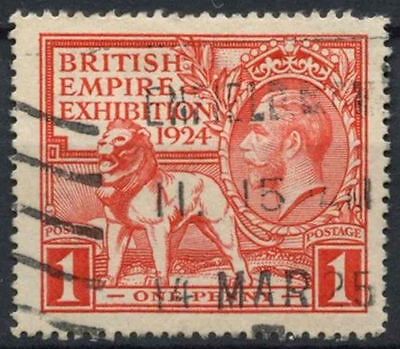 GB KGV 1924 SG#430, 1d British Empire Exhibition Wembley Used #D7973