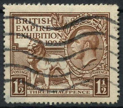 GB KGV 1924 SG#431, 1.5d British Empire Exhibition Wembley Used #D7991