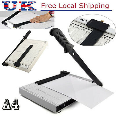 Pro Manual Heavy Duty A4 Paper Guillotine Cutter Trimmer Machine Home Office UK