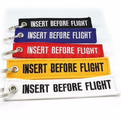 Multi Color Insert Before Flight Keychain Qty= 5  Ring Tags Cabin Crew Pilot