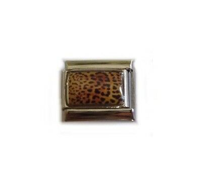 Italian Charms E121 Synthetic Oval  Brown Eggshell