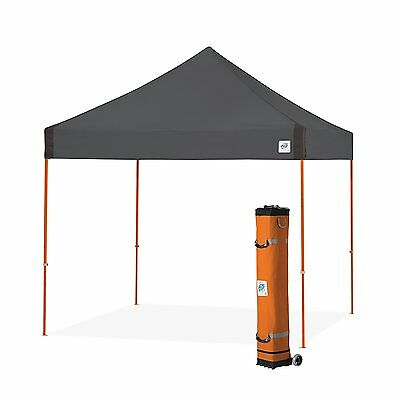 E-Z UP Vantage Instant Shelter Canopy, 10 by 10ft, Steel Grey-VG3SO10SG NEW
