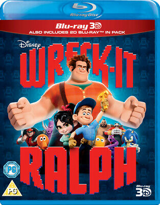 Wreck-it Ralph Blu-Ray (2013) Rich Moore cert PG 2 discs FREE Shipping, Save £s