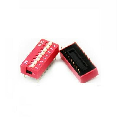 50PCS Red 2.54mm Pitch 8-Bit 8-Positions Way Slide Type DIP Switch Module NEW