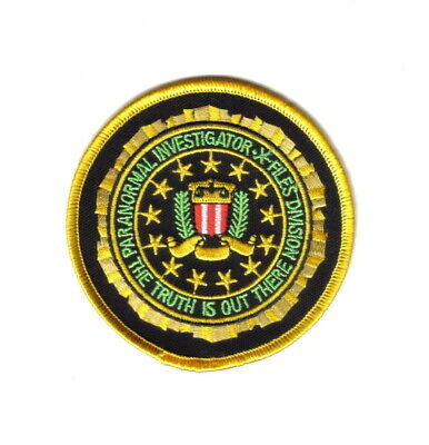 The X-Files TV Show Paranormal Investigator Logo Patch, NEW UNUSED