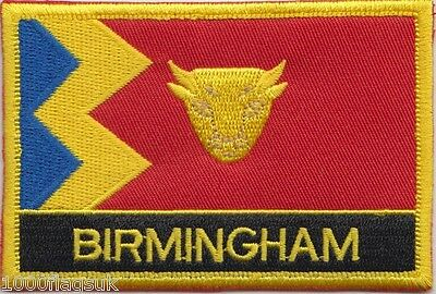 Birmingham City Flag Embroidered Patch Badge - Sew or Iron on