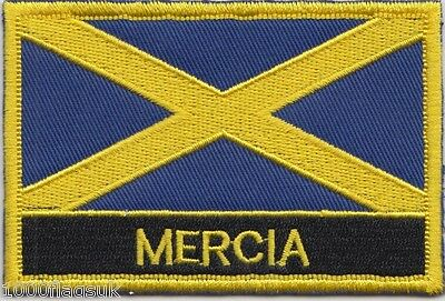 Kingdom of Mercia Region Flag Embroidered Patch Badge - Sew or Iron on