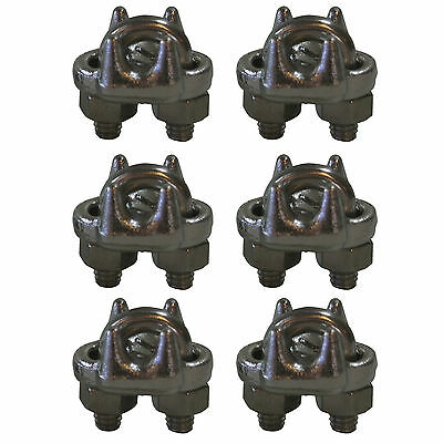 West Coast Wire Rope CPSS516 Stainless Steel 5/16-inch Cable Clamp Clip, 6-Pack