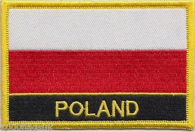 Poland Flag Embroidered Patch Badge - Sew or Iron on