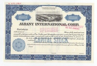 SPECIMEN - Albany International Corp. Stock Certificate