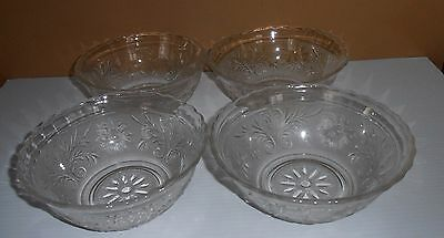 Vintage Anchor Hocking Glass Sandwich Scalloped Small Serving Bowl