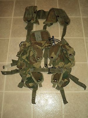 Camo Tactical Load Bearing Vest (Molle) For Repair Or Parts