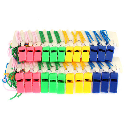 Basketball Match Neck Lanyard Referee Whistle Assorted Color 24 Pcs