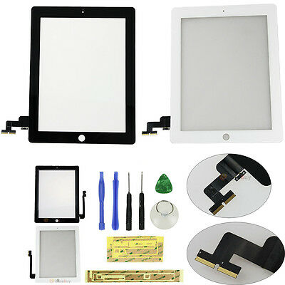 LCD Touch Screen Glass Digitizer Replacement +Tools For iPad 2 3 4 5 air mini