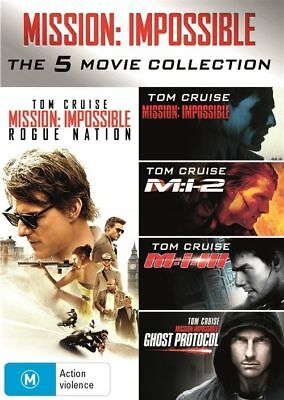 Mission Impossible 1 - 5 DVD Collection M:1 2 3 Ghost protocal Rogue Nation R4