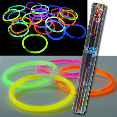 Glow Sticks Glo In The Dark Bracelets Coloured Hen Nights Kids Adults Party Toys