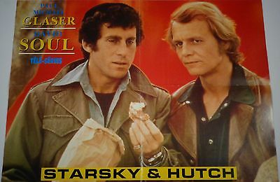 """Starsky & Hutch/Airwolf Vintage Poster 1980's (16""""x22"""") Pre-owned"""