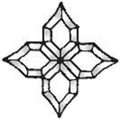 Stained Glass Supplies Large Glass Bevel Cluster 18 1//2 x 20 Inches BC320