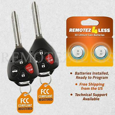 2 Replacement for Toyota Corolla Avalon Vibe Keyless Entry Remote Car Key Fob G