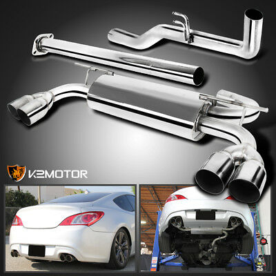 Fit 09-14 Hyundai Genesis Coupe 2L 2.0T Stainless Steel Catback Exhaust Muffler
