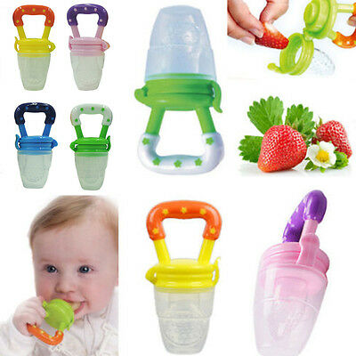 Newborns Baby Fresh Food Milk Nibbler Feeder Kids Feeding Tool Pacifier Nipples