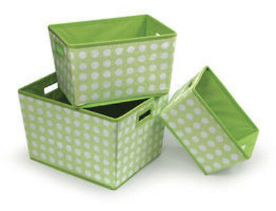 Badger Basket Nesting Trapezoid 3 Basket Set in Sage Polka Dots 00948  New