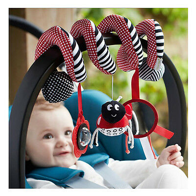 Cute Baby Musical Insect Activity Toy Spiral Cot Car Seat/Stroller Infant Rattle