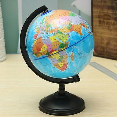 14cm/ 20cm Globe World Atlas Map Revolving Stand Geography Educational Kids Gift