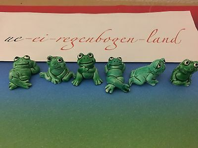 Happy Frogs K-Kennung KS (6er Satz) - original Ferrero █▓▒░ ★★★★ 1986 **** ░▒▓█
