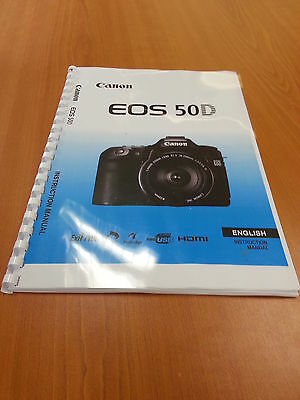 Canon  Eos 50D Full User Guide Instruction Manual  Printed 224 Pages A5