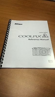 Nikon Coolpix A Camera Printed Instruction Manual User Guide 278 Pages A5