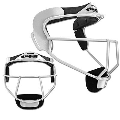 Champro The Grill Softball Fielders Mask - White - Adult