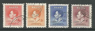 NAURU. 1937. Coronation Set. SG: 44/47. Fine Used.