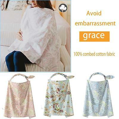 Hot Practical Woman Cotton Cover Baby Infant Breastfeeding Nursing Blanket Shawl