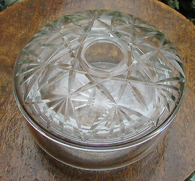 Stunning Early Cut Glass Hair Tidy Bowl And Lid